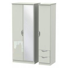 Welcome Cambridge Triple Mirror + Drawer Robe