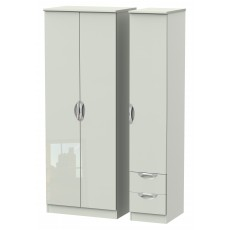 Welcome Cambridge Tall Triple Plain + Drawer Robe