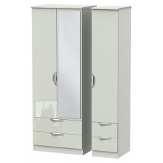Welcome Cambridge Tall Triple 2 Drawer Mirror + Drawer Robe