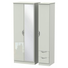 Welcome Cambridge Tall Triple Mirror + Drawer Robe