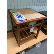 Clearance - Anbercraft Tile-Top Lamp Table