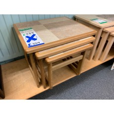 Clearance - Anbercraft Tile-Top Nest of Tables