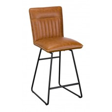 Baker Nickel Cooper Swivel Bar Stool