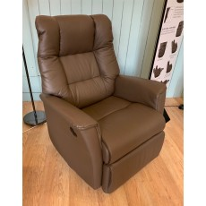 Clearance - IMG Victor Large Power Swivel Rocker Recliner in Leather