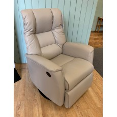 Clearance - IMG Victor Standard Power Swivel Rocker Recliner in Leather
