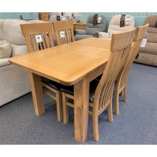 Clearance - Annaghmore Treviso Extending Dining Table & 4 Chairs