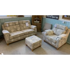 Clearance - Yeoman Sorrento 3 Seater Sofa, Chair & Small Footstool