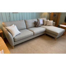Clearance - Softnord Harlow Chaise Sofa with Scatter Cushions