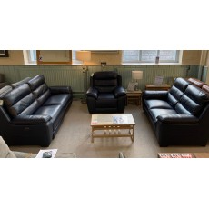 Clearance - HTL Detroit 2.5 Seater Power Sofa, Fixed 2 Seater Sofa & Power Chair