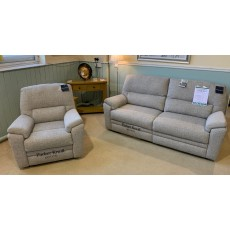 Clearance - Parker Knoll Hampton Large 2 Seater Manual Reclining Sofa & Power Chair