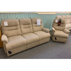 Clearance - Sherborne Keswick Std 3 Seater Fixed Sofa & Power Chair