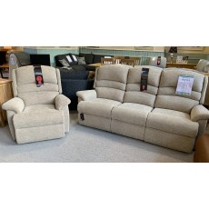 Clearance - Sherborne Olivia 3 Seater Manual Reclining Sofa & Power Chair