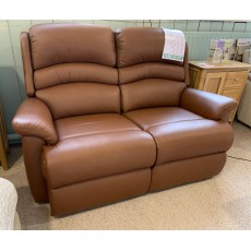 Clearance - Sherborne Olivia 2 Seater Fixed Sofa in Leather