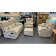 Clearance - Celebrity Hertford 3 Seater Manual Sofa, Fixed 2 Seater, Power Chair & Storage Footstool