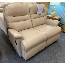 Clearance - Sherborne Keswick Small 2 Seater Manual Reclining Sofa in Leather