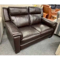 Clearance - HTL Orleans 2 Seater Fixed Sofa in Leather
