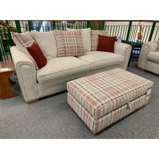 Clearance - Alstons Memphis 4 Seater Sofa & Storage Ottoman