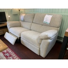 Clearance - Ashwood Hamilton 3 Seater Power Sofa, Manual Recliner & Storage Footstool