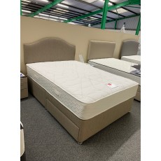 "Clearance - Slumberland Radiance Comfort 1000 4'6"" (135cm) Double 2 Drawer Divan Set + Headboard"
