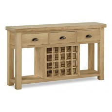 Fairford Large Console Table with Wine Rack