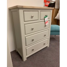 Clearance - Bretton 3+2 Drawer Chest (Oak/Painted)