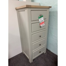 Clearance - Bretton 5 Drawer Tall Chest (Oak/Painted)