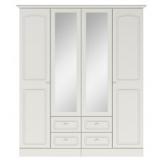 Kingstown Aylesbury 4 Door 4 Drawer Centre Mirror Wardrobe