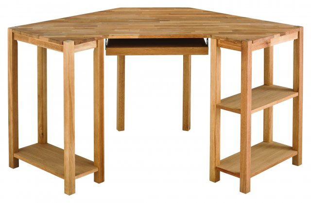 Regis Oak Corner Desk