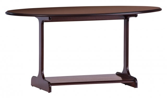 Gola Clifton Downton Large Oval Coffee Table With Shelf