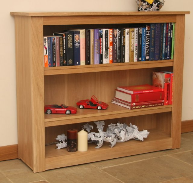 Andrena Elements Low Extra Wide Open Bookcase