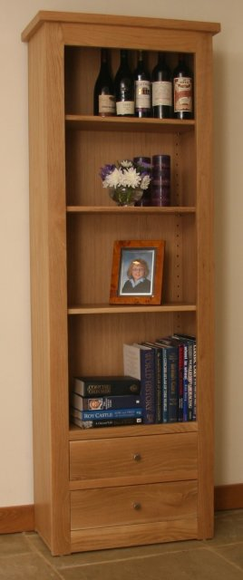 Andrena Elements Medium Open Bookcase with Drawers