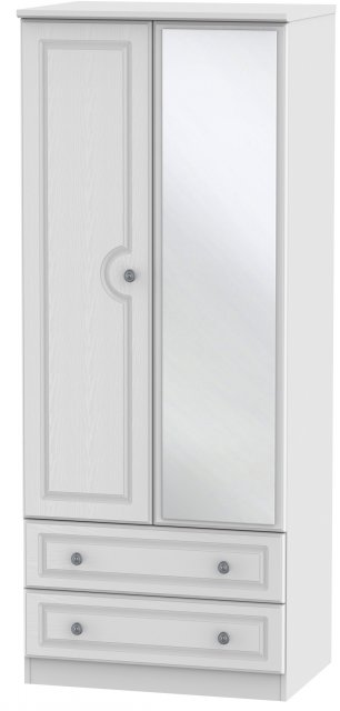 Welcome Bude 2ft 6in 2 Drawer Mirror Wardrobe