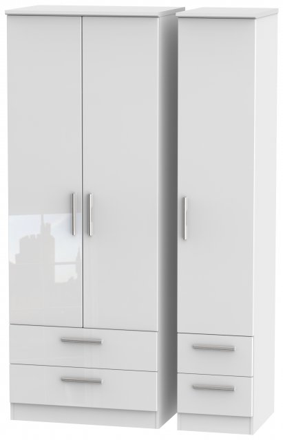 Welcome Infinity Tall Triple 2 Drawer + Drawer Robe