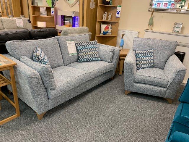 Clearance - Alstons Sullivan 3 Seater Sofa & Chair