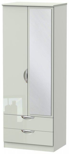 Welcome Cambridge Tall 2ft 6in 2 Drawer Mirror Robe