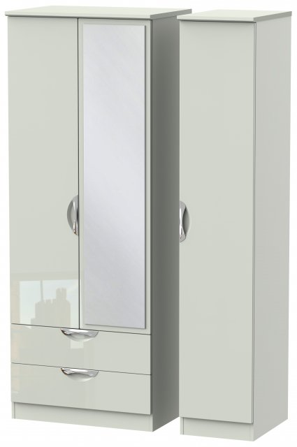 Welcome Cambridge Tall Triple 2 Drawer Mirror Robe