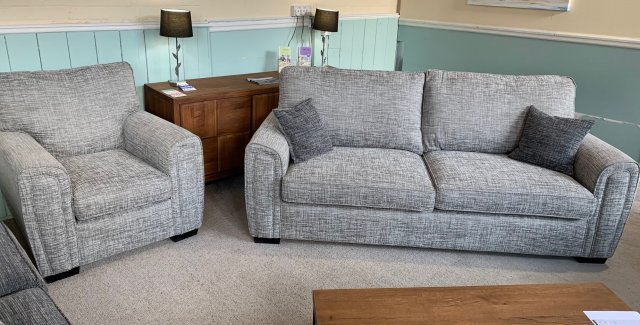 Clearance - Alstons Memphis 4 Seater Sofa & Chair
